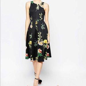 ASOS Floral MIDI Dress, never worn